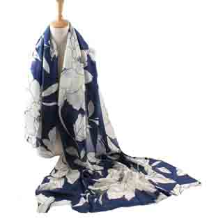 wholesale peony flowers thick cotton scarf