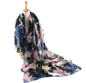 China Twill Printed Cotton Scarf
