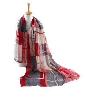 Wholesale lattice Bali yarn scarf