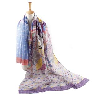 Wholesale leaves Bali yarn scarves
