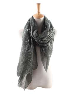 Wholesale silver spot cotton scarf