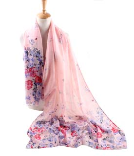 Wholesale Peony Polyester Scarf