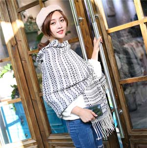 Wholesale plaid tassel imitation cashmere scarf