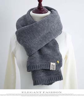 Wholesale small fresh buckle imitation cashmere scarf