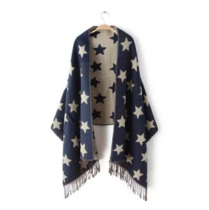Wholesale star tassel imitation cashmere scarf