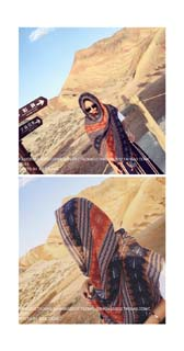 Wholesale national wind striped cotton scarves