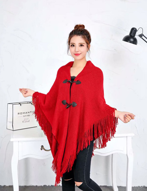 plain coloured irregular double layer tasses cape