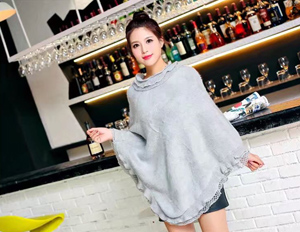 lace loose knit hood scarf women winter scarves
