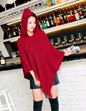 winter fashion hooded scarf shawl