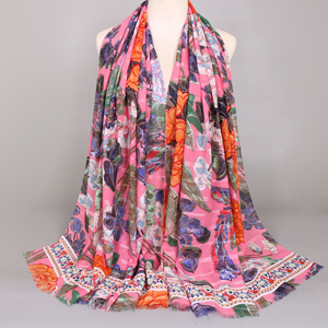 ethnic style cotton scarf print scarves