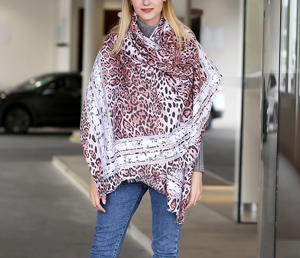 Dubai selling leopard print cotton scarves