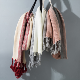 Thick wool scarf twist braid tassel female fashion scarf shades