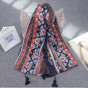 National wind printing holiday beach scarf wholesale