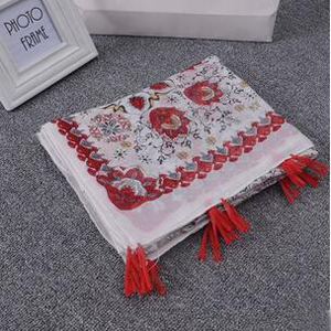 Flower design simple female elegant silk scarf wholesale