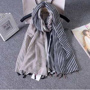 Female bar cotton linen scarf wholesale