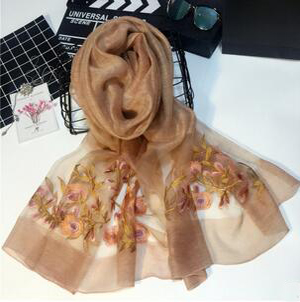 Female embroidered beach scarves wholesale