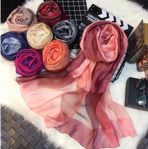 Double color silk wool scarves wholesale