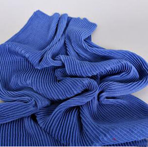 Pure color fold female scarf wholesale