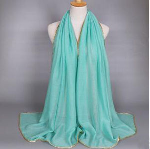 Female serging voile scarf wholesale