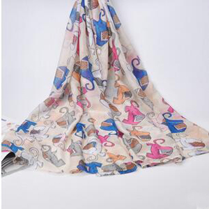 Lovely elephant voile scarf wholesale