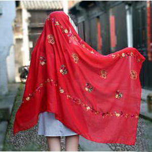 Cashew embroidered beach towel scarf wholesale