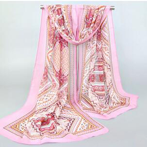 Printed female chiffon silk scarf wholesale