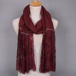 Lace cotton splicing female scarf wholesale