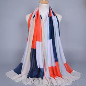 Colored lattice urban womens scarf wholesale