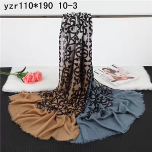 Irregular female patchwork pattern cashmere scarf wholesale