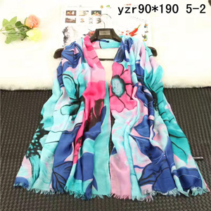 Dark floral lady cashmere scarf wholesale