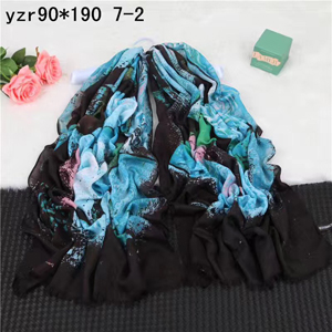 Decorative pattern female dark cashmere scarf wholesale