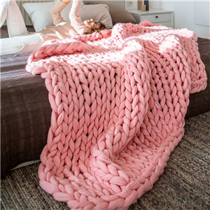 Wholesale coarse wool knit woven scarf