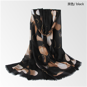 Love gold-printed cotton scarf cheap from China