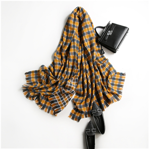 Chinese cheap color tassel woven cashmere scarf