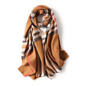 Cheap plaid cashmere scarf