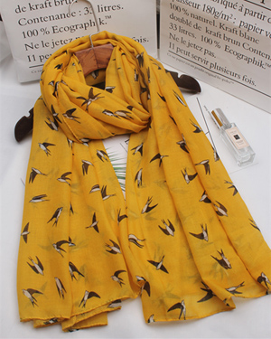 small swallow printed scarf animal shawl