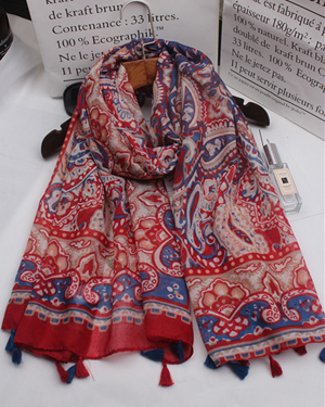 national wind cashew cotton scarf