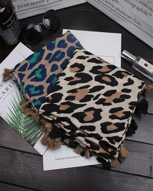 new leopard print cotton scarf