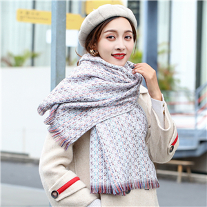 Wholesale water ripple pattern cashmere warm scarf