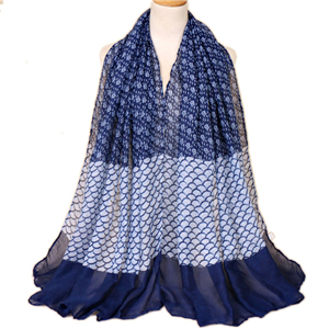 Wholesale small floral print Muslim Bali yarn scarf