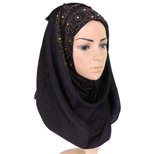 Wholesale hairy diamonds cotton Muslim scarf