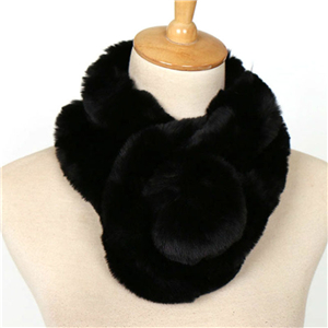 China wholesale warm plush ball solid color scarf