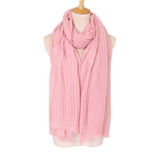 Solid color crease muslim cotton hemp nail pearl cheap scarf