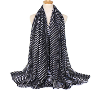 Wholesale striped cotton scarf
