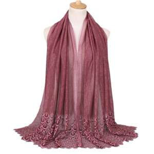 Wholesale solid color lace decorative scarf