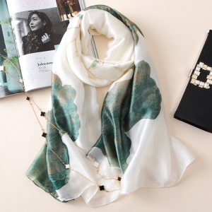 Lotus printing large sunscreen thin scarf