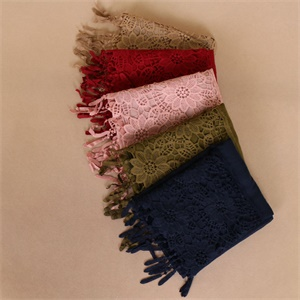 single color stitching pure lace cotton shawl