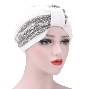 China wholesale bicolor pleated fold Muslim head scarf