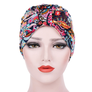 China wholesale floral cotton Muslim head scarf