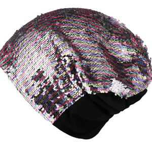 Sequin knitted warm ear protector cheap head scarf